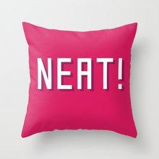 NEAT! Throw Pillow