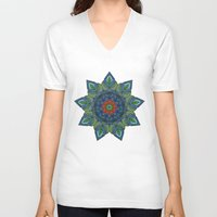 siren V-neck T-shirts featuring Siren by Angelo Cerantola