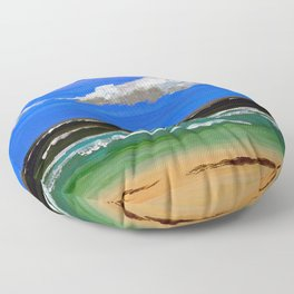 Pacific ocean Floor Pillow