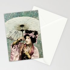 Japanese snow queen Stationery Cards