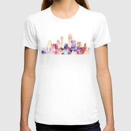 Dallas Texas City Pink Skyline Poster T-shirt