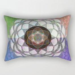 Spectrum Meditation Art Print Rectangular Pillow