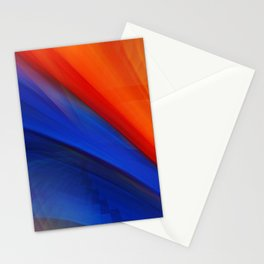 Bright orange and blue Stationery Cards
