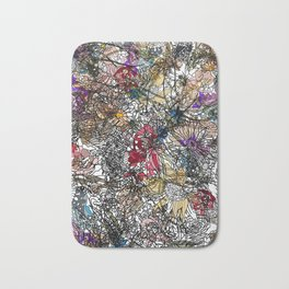 Floral Abstract Retro Inspired Bath Mat