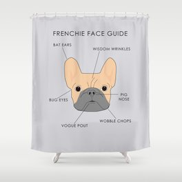 The French Bulldog Face Guide Shower Curtain