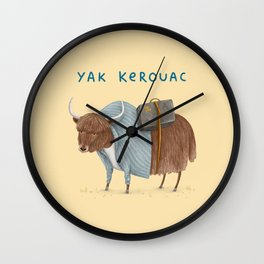Yak Kerouac Wall Clock