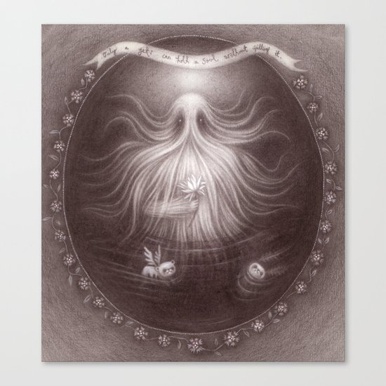 Friendly Yeti Canvas Print
