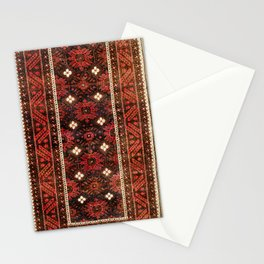 Belouch  Antique Khorasan Northeast Persian Rug Print Stationery Cards