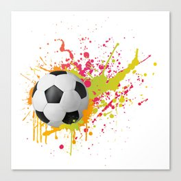 Football design with colorful splashes Canvas Print