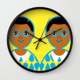 Girl 3 - Raindrops Wall Clock