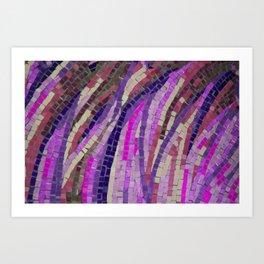 Pink & Purple Mosaic - JUSTART (c) Art Print