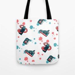 Retro Graffiti Pattern Tote Bag