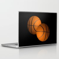 basketball Laptop & iPad Skins featuring Basketball Design  by Leatherwood Design