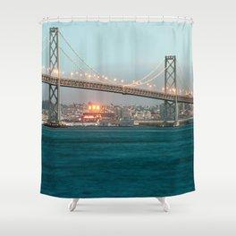 Bridge Architecture Water 4 Shower Curtain
