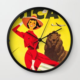 Visit Art Institute of CHICAGO America Vintage Tourism Advertisement Poster Wall Clock