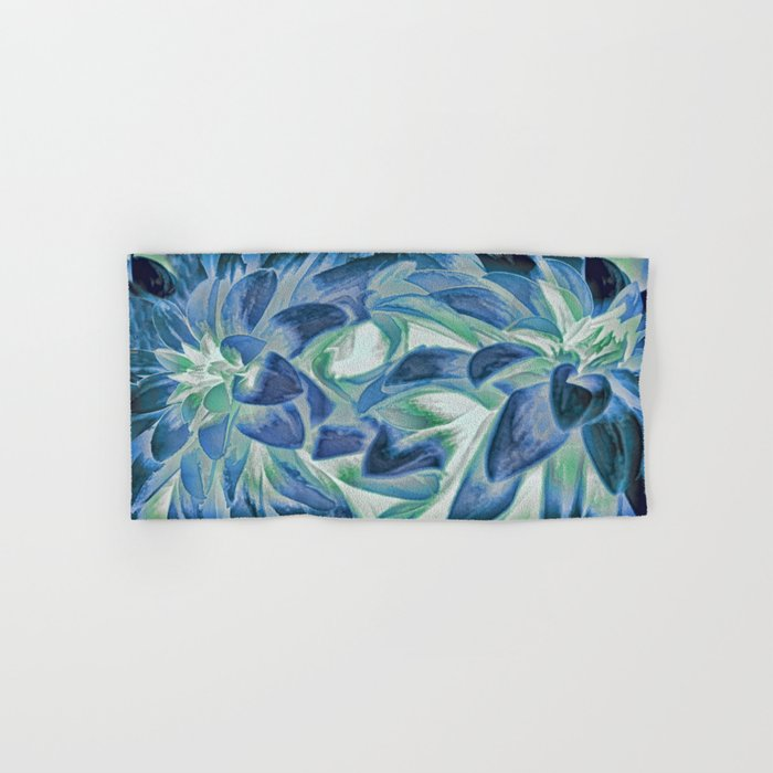 Midnight Floral Abstract Hand & Bath Towel