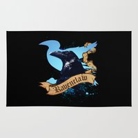ravenclaw Area & Throw Rugs featuring Ravenclaw by Markusian