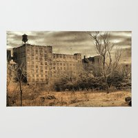 cityscape Area & Throw Rugs featuring Cityscape by The Strange Days Of Gothicrow