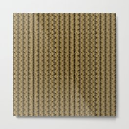 Gold Weave Abstrct Metal Print