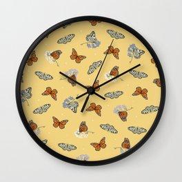 Butterfly Array Wall Clock