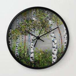 Aspen Trees, Shades of Gray Wall Clock