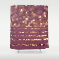 beth hoeckel Shower Curtains featuring Mingle by Lisa Argyropoulos