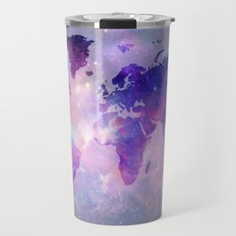 world map galaxy Travel Mug