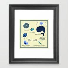 Colors: blue (Los colores: azul) Framed Art Print