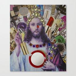 Jesus loves Vain Canvas Print