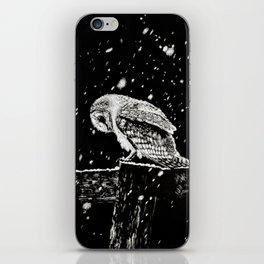 Snowfall at Night (Owl) iPhone Skin