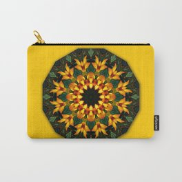 Iris 002.8, Floral mandala-style Carry-All Pouch