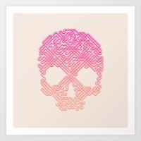 Labyrinthine Skull - Tropical Art Print