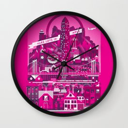 Make Love In MPLS Wall Clock