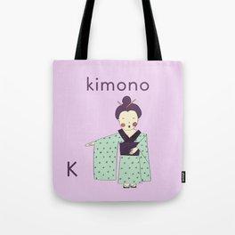 K is for Kimono Tote Bag
