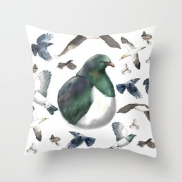 Bird Bonanza Throw Pillow