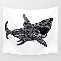 jaws Wall Tapestries featuring Jaws by Lauren Moore