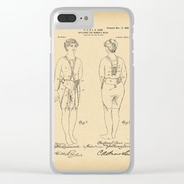 1900 Patent Appliance for women's wear Clear iPhone Case