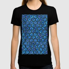 Sparkly Turquoise & Blue & Glitter Mermaid Scales T-shirt