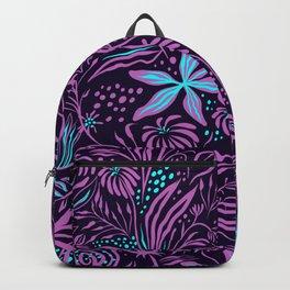 Violet Jungle Pattern Backpack