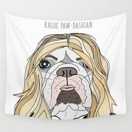 Celebrity Dogs-Khloe Pawdashian Wall Tapestry