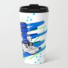 Mr.ShoeLock (blue) Travel Mug