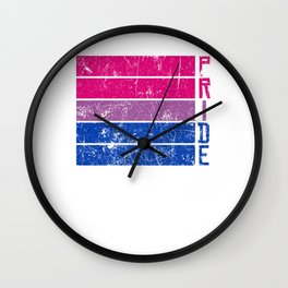 Gay Pride LGBT Bisexual Bi Distressed Pop Art  design Wall Clock
