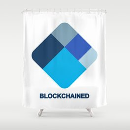 I am blockchained! Shower Curtain
