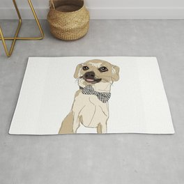Chihuahua Dog with Bow Tie Rug