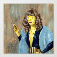 cheese Canvas Prints featuring Cheese by FAMOUS WHEN DEAD