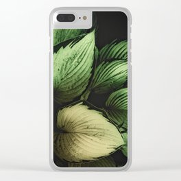 Vintage Japanese Hosta Clear iPhone Case