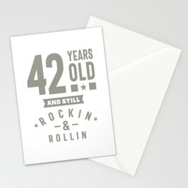 42 Years Old Birthday Gift Stationery Cards