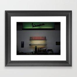 Vespa Bar Framed Art Print