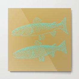 FISH2 Metal Print