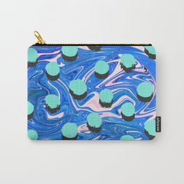 Abstract Texture Pattern 02 – Marbling and Shadow Polka Spots Carry-All Pouch